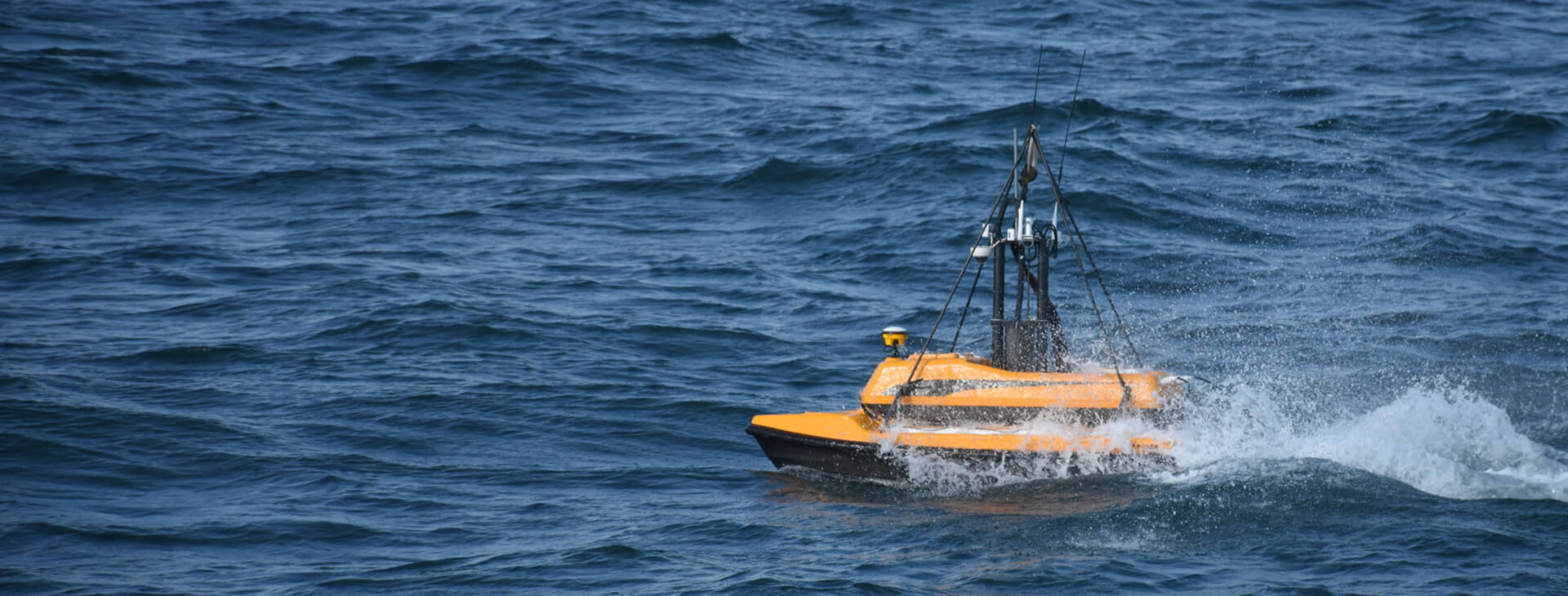 Unmanned surface vehicle ME120 sailing in high speed on the sea