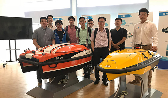Oceanalpha Assist Middle School in Unmanned Boat Project