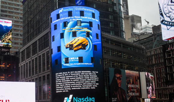 Oceanalpha USV Lands on Time Square and Says Hello to the World