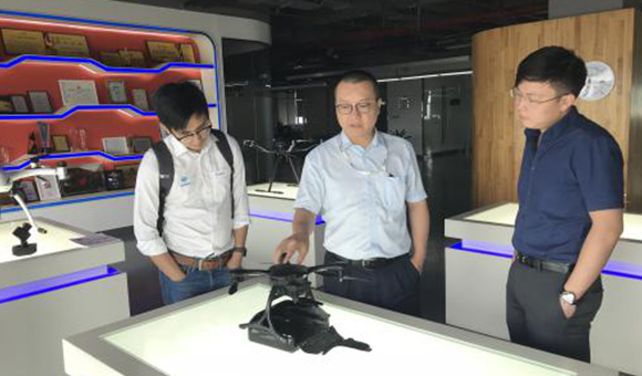 Oceanalpha Visit Drone Company EHANG to Explore Unmanned Technology 1