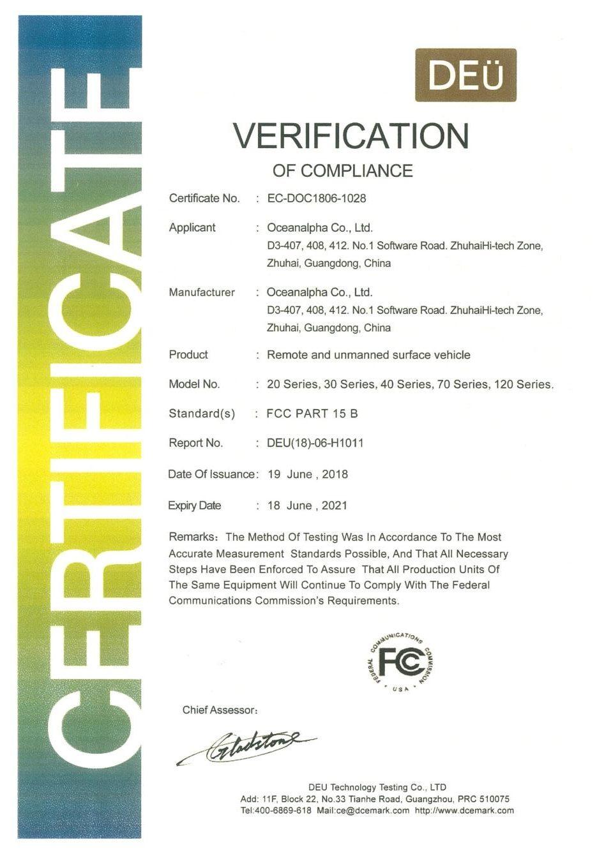 FCC Certificat