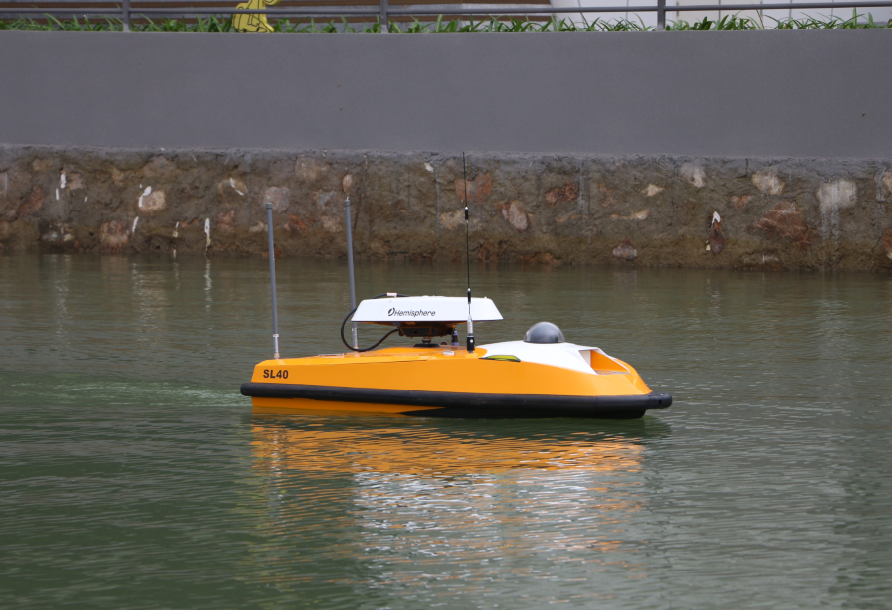 SL40 unmanned surface vessel with POS and side scan sonar