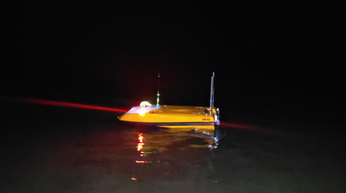 SL40 USV surveying at night