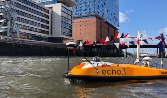 SL40USV launched in port of Hamburg