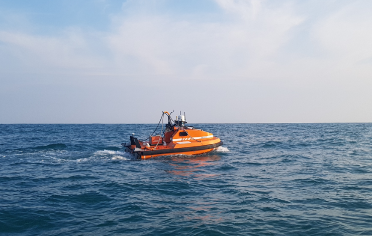 M40P USV on the sea