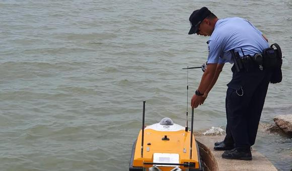 OceanAlpha 5G Police Unmanned Boat guards Shenzhen coastline 1