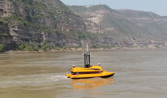 ME120 USV on yellow river